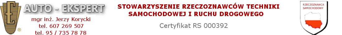 AUTO - EKSPERT Jerzy Korycki rzeczoznawca samochodowy, rzeczoznawca pojazdów, maszyn i urządzeń